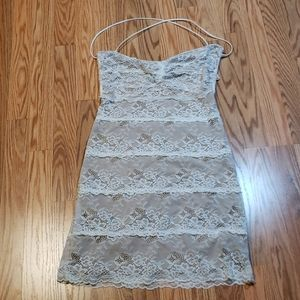 Sexy Little Lace Dress, Strappy Back, Aakaa, sz Lg